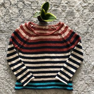 Anthropologie Sweaters - Anthropologie Moth striped cotton scoop neck knit